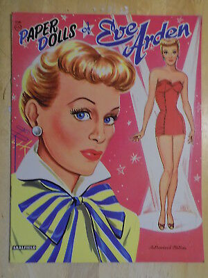 1956 Paper Dolls of Eve Arden Book Unpunched Saalfield