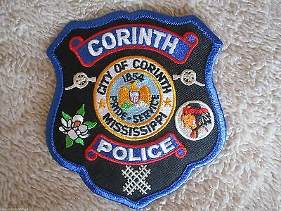 "Corinth Police Dept Shoulder Patch - Mississippi - 4"" x 4 1/2"""