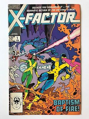 X-Factor #1 Marvel Comics Vol. 1 1st Russell Collins February 1986 VF