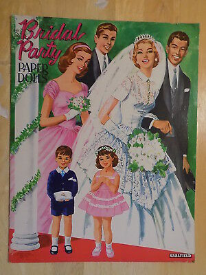 1956 Bridal Party Paper Dolls Book Unpunched Saalfield