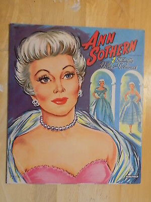 1956 Ann Sothern actress Paper Dolls Book Unpunched Saalfield
