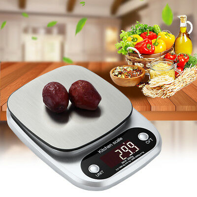 10kg/1g Stainless Steel LCD Digital Electronic Cooking Food Weight Kitchen Scale