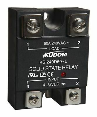 Kudom 60 A Solid State Relay, Zero Crossing, Panel Mount SCR, Triac, 280 V ac Ma