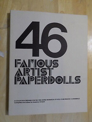 1985 46 Famous Artist Paper Dolls United Federation of Doll Clubs Region I Book