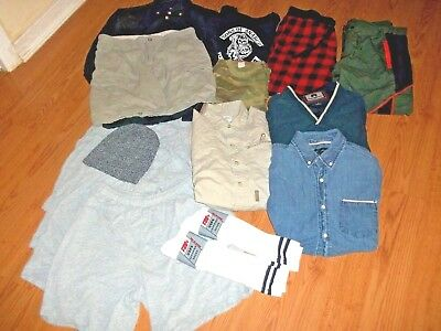 MEN CLOTHING MIXED LOT   NEW AND USED  (16 ITEMS ) & some extras not listed