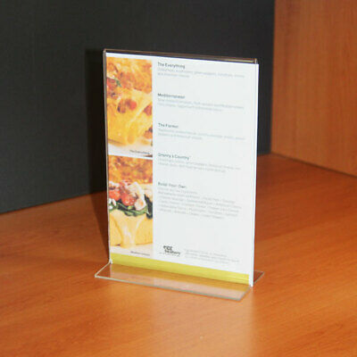 A5 Acrylic Display Stand For Signs And Menus