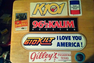 Dont Mess With Houston Legacy Sticker Collection. Klol, Gilleys. Stones Klol +