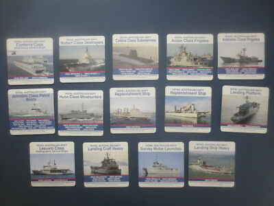 complete set of 14 different  ROYAL AUSTRALIAN NAVY Special Issued  COASTERS