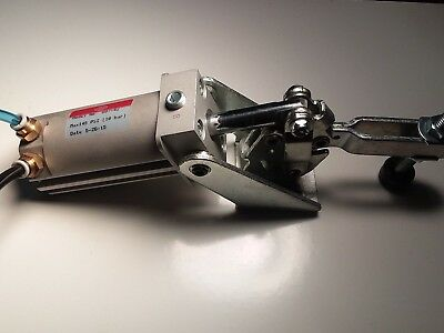 Used Pneumatic Cylinder And Clamp De Sta Co 807-42 De-Sta-Co 80742 Destaco