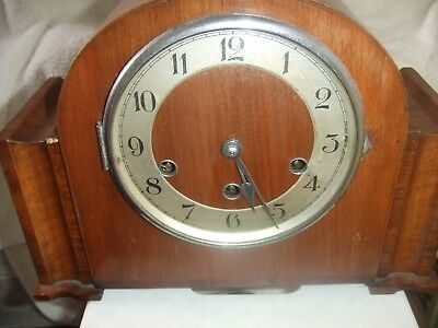 Vintage Art Deco Haller German Westminister Chime Mantle Clock