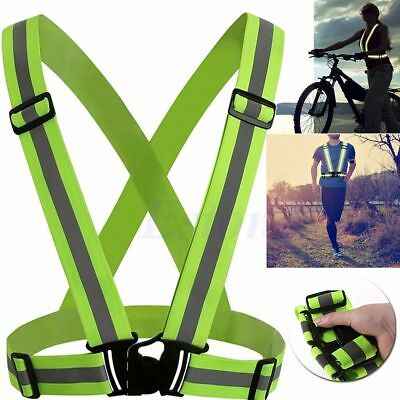 Safety Reflective Vest Lightweight and Adjustable for Running Cycling Motorcycle