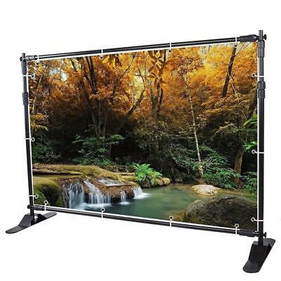 WinSpin 10 Ft Adjustable Background Banner Stand Backdrop Exhibitor Expanding