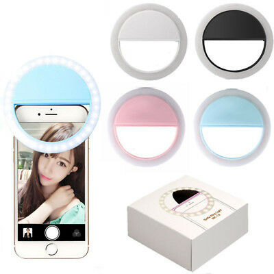 Selfie Light Ring LED - Flash Clip Camera -For iPhone X 8 Samsung S9 Plus S8 S7