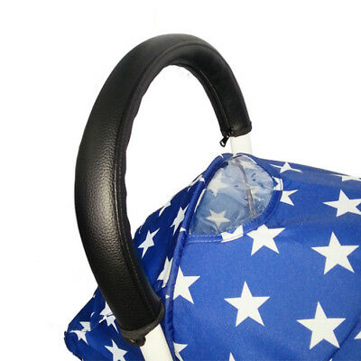 Baby Stroller Pushchair Armrest Case Handle PU Leather Protective Cover A86C