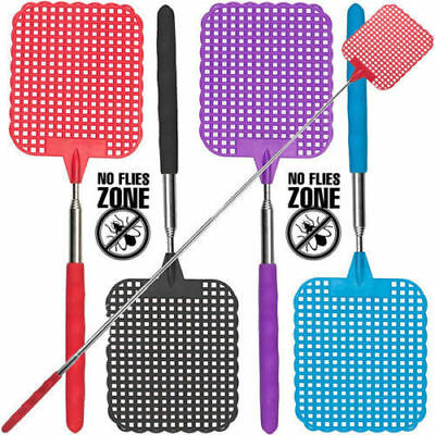 73cm Telescopic Extendable Fly Swatter Prevent Pest Mosquito Tool Plastic Useful