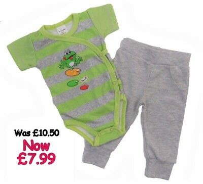 !!SALE!! Was £10.50 *Baby Boys/Girls 2 pc* Outfit *Set 100% COTTON **0-3 Months