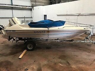 Mustang Wave runner 17 ft Speed boat and trailer Spares or Repairs