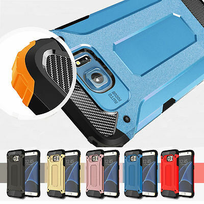 For Samsung Galaxy S6 S7 Edge Shockproof Hybrid Rugged Armor Bumper Case Cover