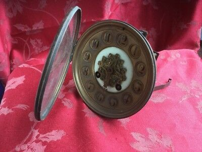Square Plate Antique French Clock Movement Dial Bezel