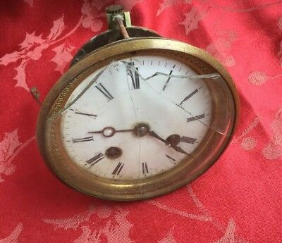 Top Quality Outside Countwheel  Antique French Clock Movement Dial Bezel
