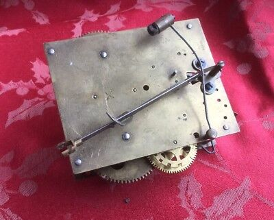 HAC German  Clock Movement For Spares Or Repair Good Springs