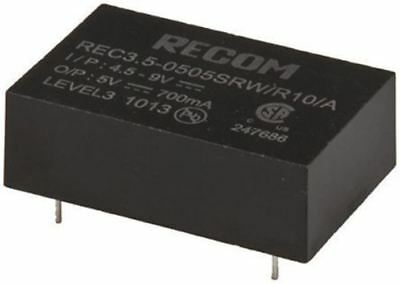 Recom REC3.5 3.5W Isolated DC-DC Converter Through Hole, Vin 9 â?? 18 V dc, Vout