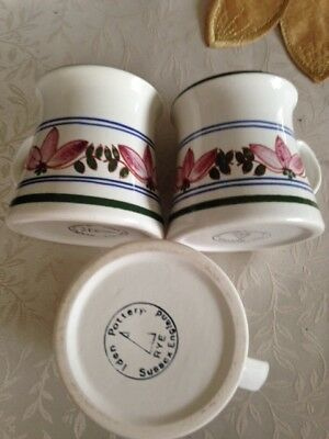 rye iden pottery coffee mugs in good condition
