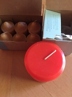Lot of Partylite candles Tealights and small pillar Coral Hibiscus and Vanilla