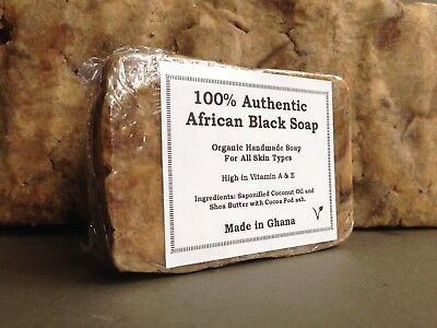 100% Authentic Organic Unrefined African Black Soap- Fast And Free Post Uk