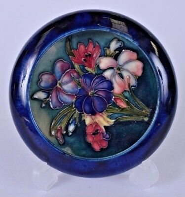 beautiful and rare moorcoft pottery shallow bowl brush washer porcelain antique