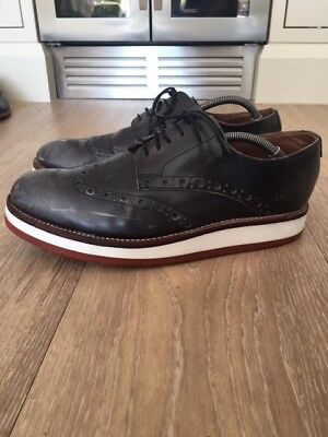 GRENSON  Archie raised-sole leather oxford brogues, size UK 10