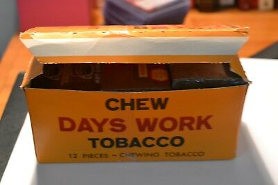 Vintage Plug Tobacco Collection with Days Work Box Lot of 14 R.J. Reynolds