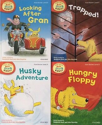 OXFORD READING Biff,Chip and Kipper Level 5 First Stories Collection 4 books NEW