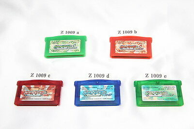 POKEMON GameBoy Advance Leaf Green Fire Red Ruby Sapphire Emerald Japanese Games
