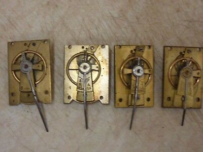 4 ANTIQUE CARRIAGE- FRENCH CLOCK PLATFORMS - SPARES or REPAIR (K1)