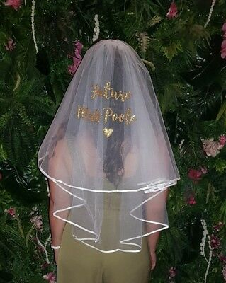 💖 Personalised hen party veil in a choice of wonderful glittery colours 💖