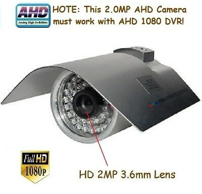 "109A Sunvision AHD 2.0MP 1080p 1//3/"" CMOS In//outdoor Camera 48IR 2MP 3.6mm Lens"