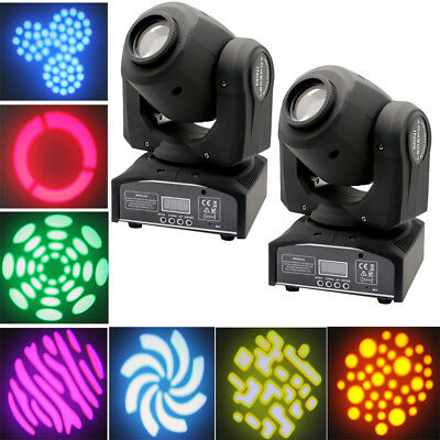 2PCS 30W Bühnenbeleuchtung RGBW Moving Head  Gobo Disco Party KTV Spot Lights