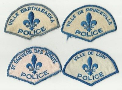 Arthabaska / St. Sauveur / Princeville / Lery (QUEBEC) Police Patches (USED)