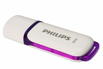 Philips 64GB Snow Edition 14MB/s High Speed USB 2.0 Flash Memory Stick Pen Drive
