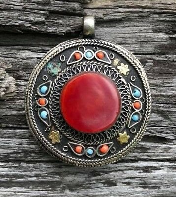 Gorgeous Pendant Old Agate Stone Rare Stunning Cameo Carnelian Ancient Unique