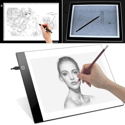 Ultra Thin A4 LED Copy Board Craft Tracing Drawing Stencil Table Pad Light 2018
