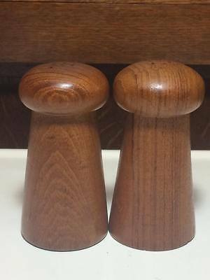 Vintage Mid Century Goodwood Teak Wood Salt Pepper