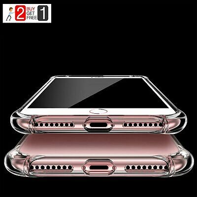 For iPhone XI Pro Max 8 7Plus XS Max XR Shockproof Crystal Clear Case Hard Cover