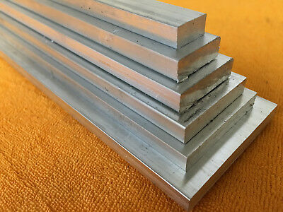 "NEW Aluminium 6082 Flat Bar - 1/2"" x 3/16"" to 2"" x 1/4"" - 100mm to 1000mm Long"