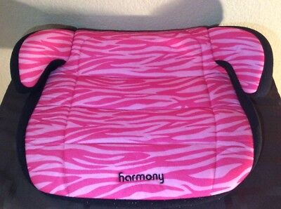 Harmony Booster REPLACEMENT Seat Cover Cushion Fabric Part Black Pink