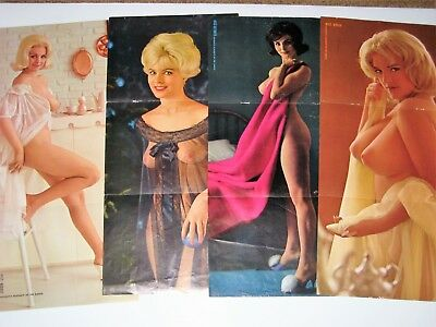 4 - Vintage Old Playboy Playmates From 1962 - Very Nice