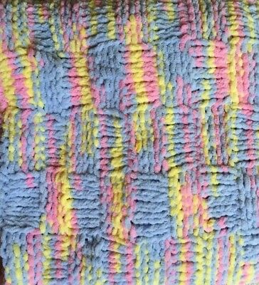 HAND KNITTED BABY BOYS/GIRLS BLANKET Very Soft