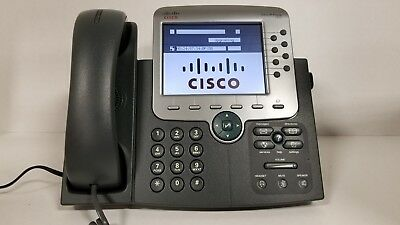 Cisco CP-7975G Unified VOIP Color Touch Screen Display