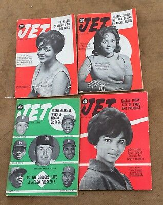 Vintage Jet Magazines Lot Of 4, 1963